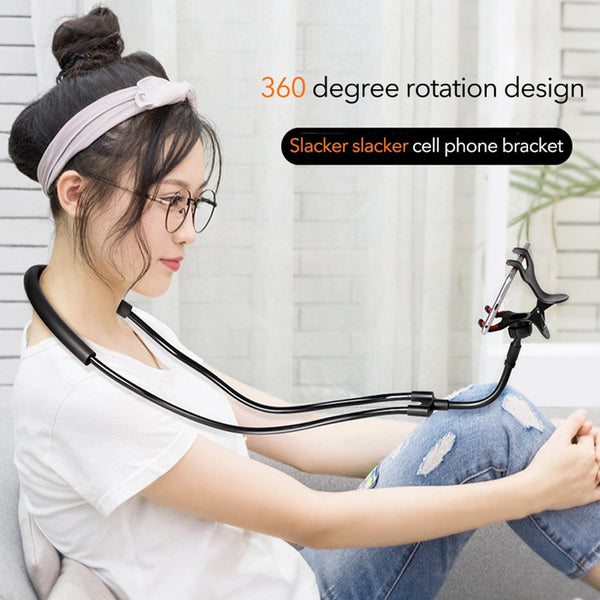 Flexible Mobile Phone Holder Hanging Neck Lazy Necklace Bracket Bed 360 Degree Smartphone Holder Stand for IPhone Case Cover