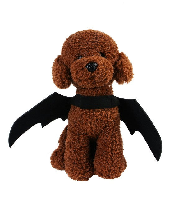 2019 New Halloween Pet Dog Costumes Bat Wings Vampire Black Cute Fancy Dress Up Halloween Pet Dog Cat Costume