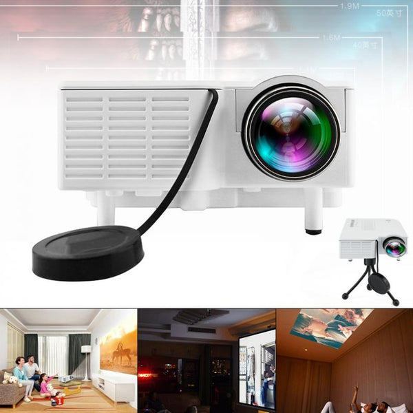 UC28 Universal 400 Lumens HD 400Lumens Multimedia LED Homehold Projector Support 60 Inch Large Screen Projection