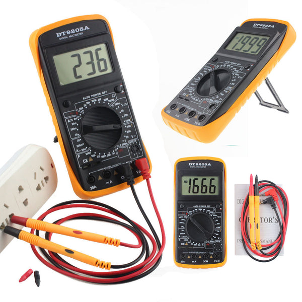 9205A Professional Digital Multimeter Tester Lead AC/DC LCD Display