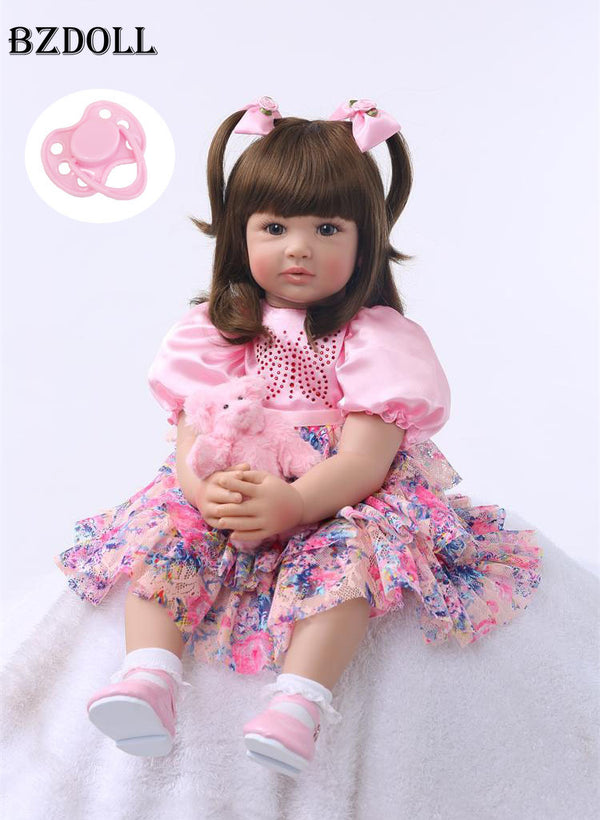 "24"" Silicone Reborn Toddler Baby Doll"