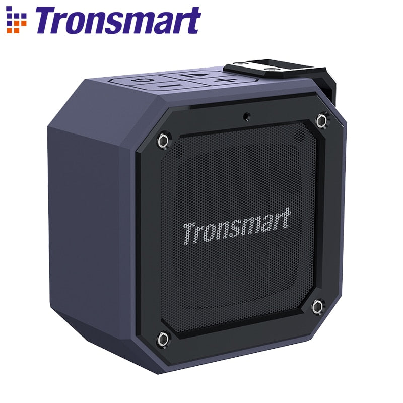 Tronsmart Groove Force Mini Bluetooth Speaker IPX7 Waterproof Column SoundBox Portable Speakers for Computer 24-Hour Play Time