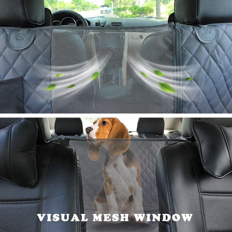 Dog Car Seat Cover View Mesh Waterproof Pet Carrier Car Rear Back Seat