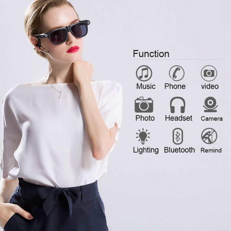 Smart Bluetooth 4.0 Glasses with Hands-Free Call