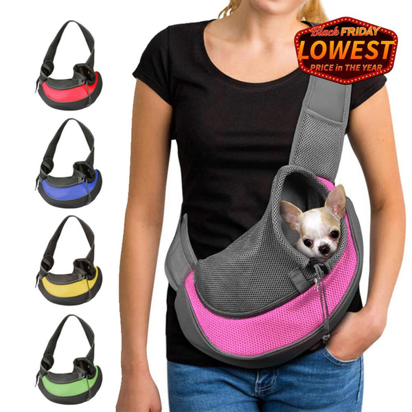 Pet Puppy Carrier Shoulder Bag Mesh Tote Pouch