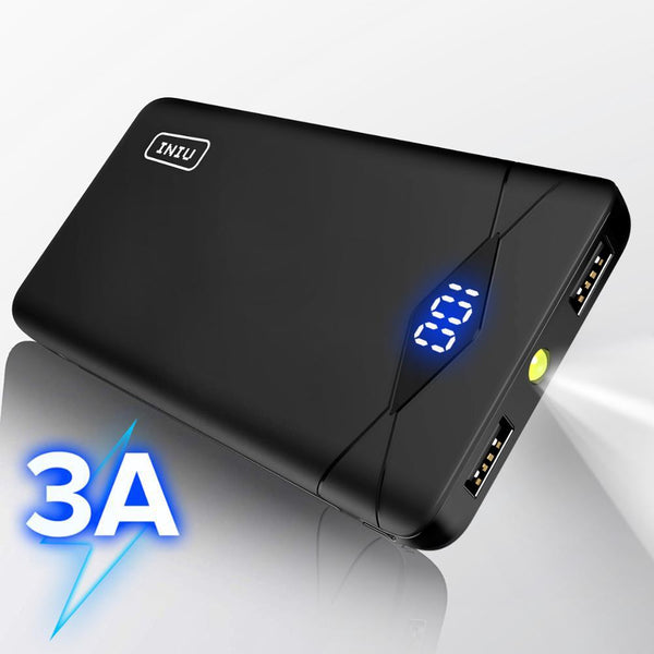 INIU 3A 10000mAh LED Power Bank Dual USB Portable Charger Powerbank