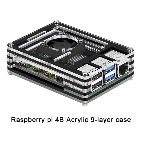 Raspberry pi 4B case new 9 Layers Case designed for Raspberry Pi 4 Model B