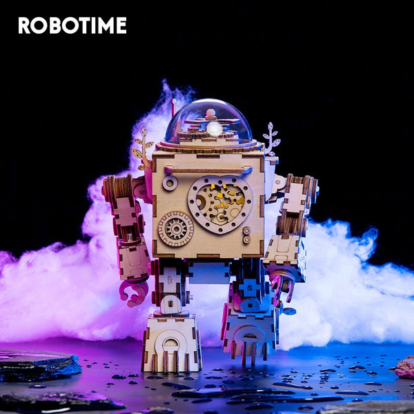 Robotime 5 Kinds Fan Rotatable Wooden DIY Steampunk