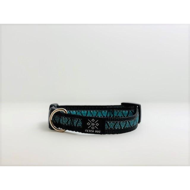 Turquoise Mini Pyramids Small Dog Collar
