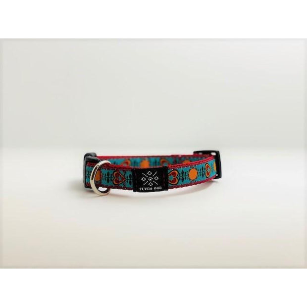 Retro Love Small Dog Collar