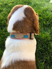 Kissing Elephants Dog Collar - Fetch Dog