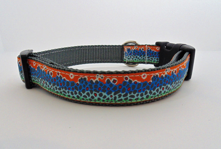 Trout Spots Pattern Dog Collar - Fetch Dog