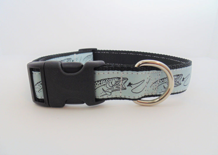 Trout & Fly Dog Collar - Fetch Dog