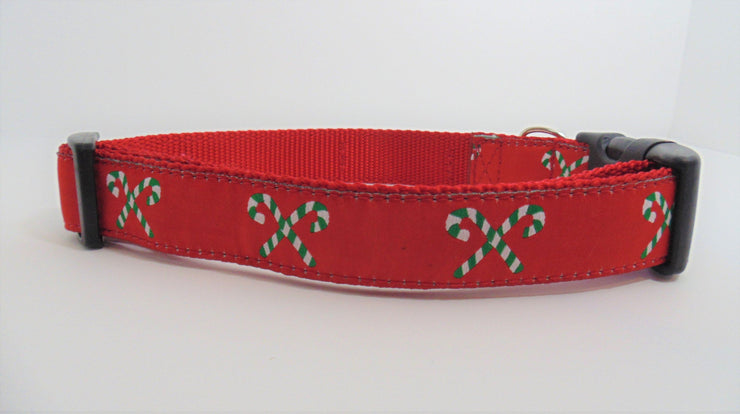 Candy Cane Dog Collar - Fetch Dog
