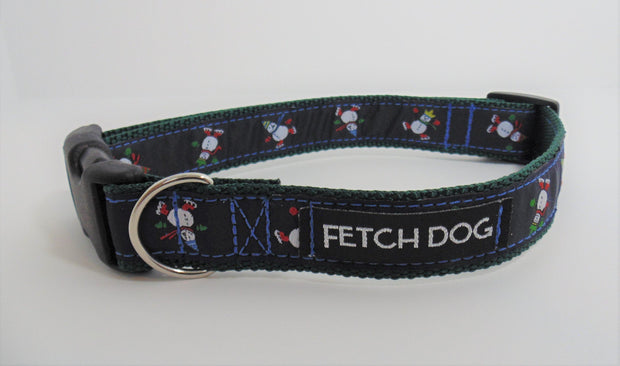 Snowman Dog Collar - Fetch Dog