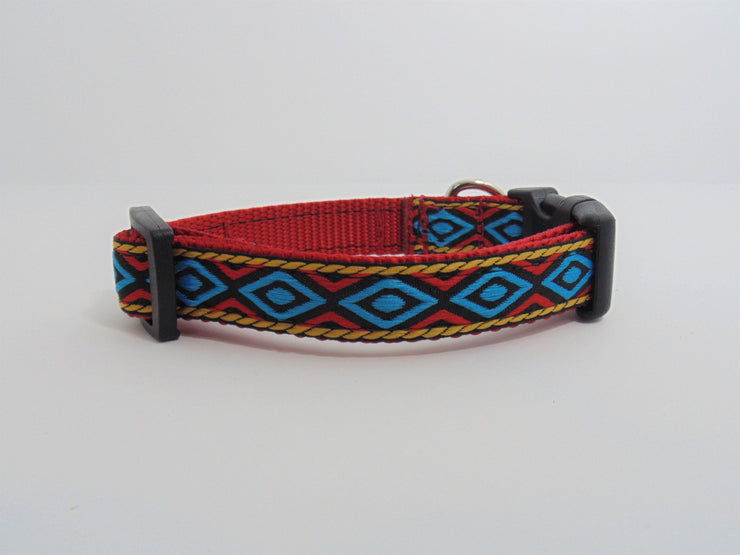 Geometric Diamond Dog Collar - Fetch Dog