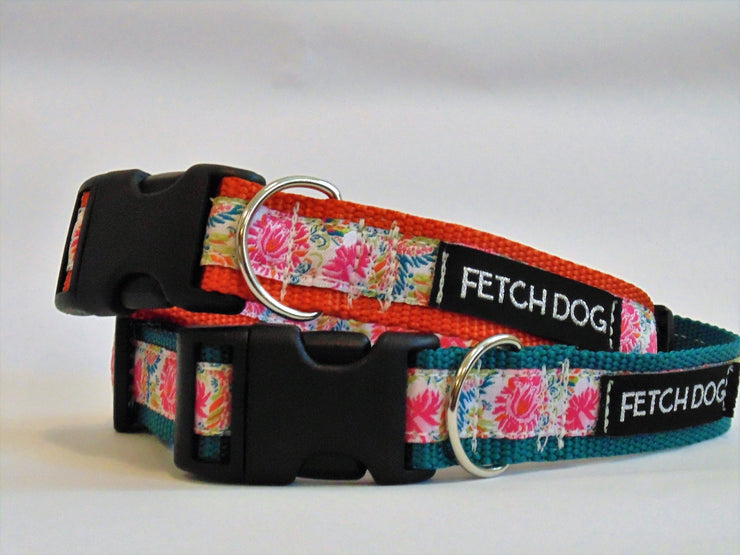 Floral Dog Collar - Fetch Dog
