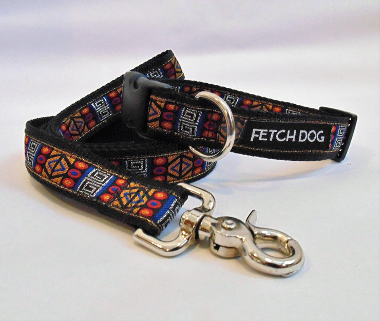 Retro Geometric Dog Collar - Fetch Dog