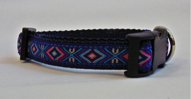 Purple Geometric Dog Collar - Fetch Dog