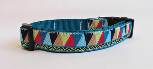 Triangle Zig Zag Dog Collar - Fetch Dog