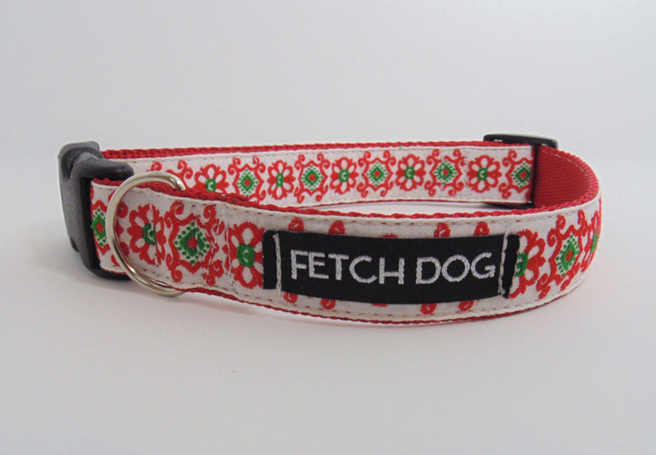 Retro Floral Dog Collar - Fetch Dog