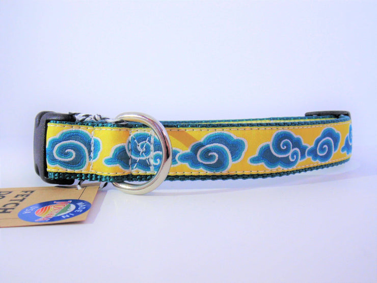 Teal Cloud Collar - Fetch Dog