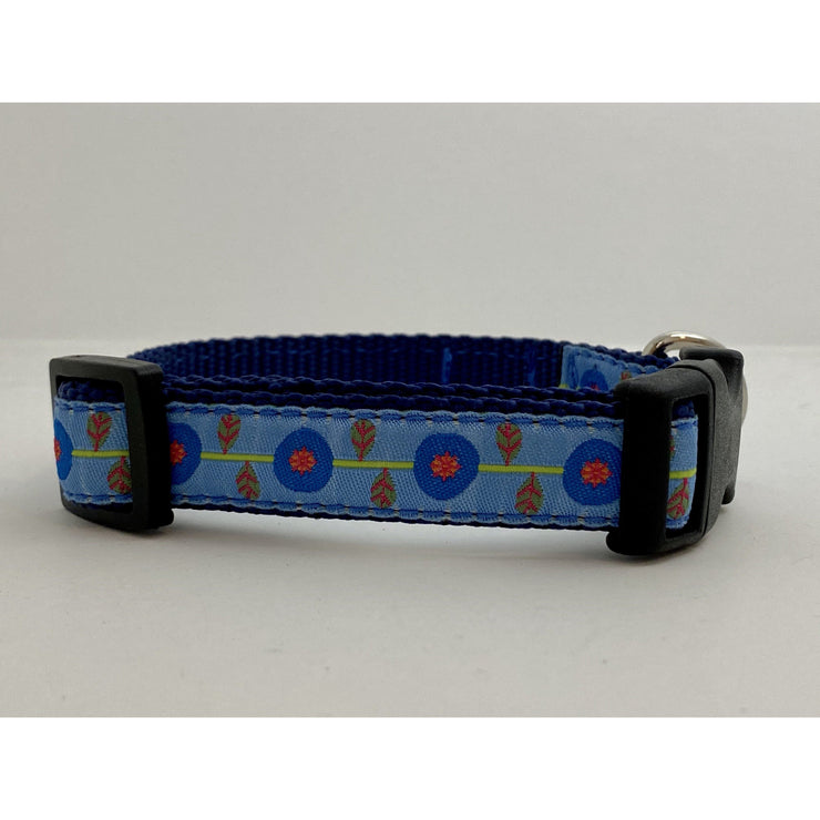 Poppies Small Dog Collar