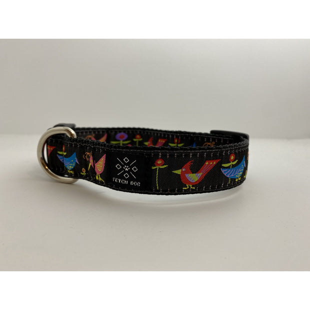 Birds and Flowers Dog Collar Dog Collar Fetch Dog