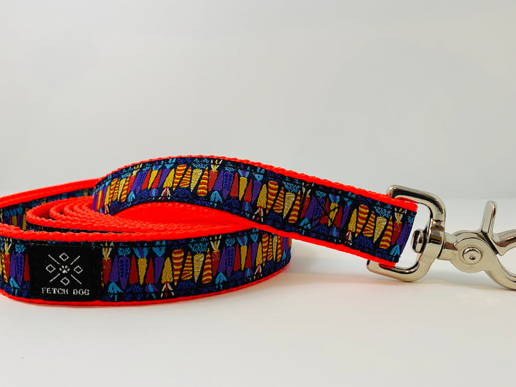 Colorful Carrots Dog Leash