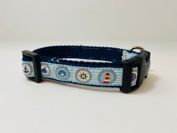 Nautical Small Dog Collar