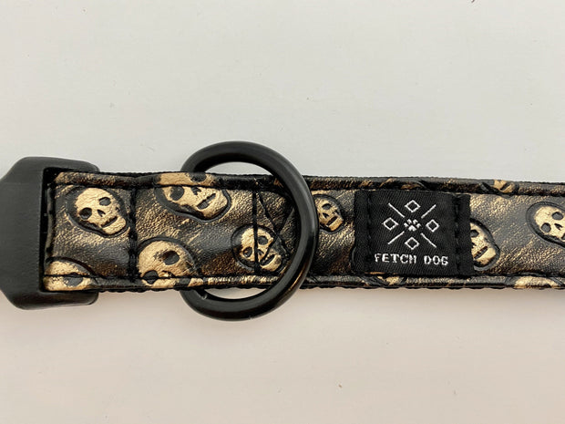 Black Copper Skulls Dog Collar Dog Collar Fetch Dog