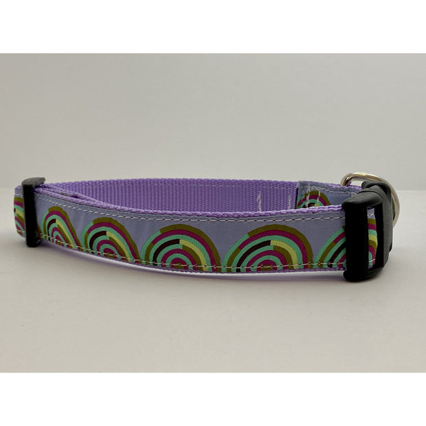 Fuschia and Mint Hypnotizer Dog Collar Dog Collar Fetch Dog