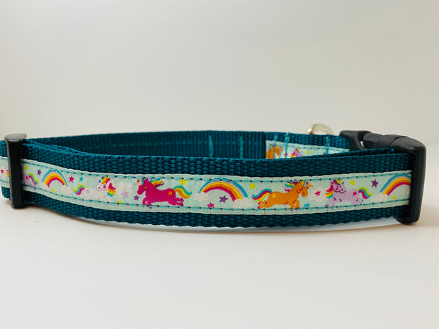 Unicorn & Rainbow Dog Collar