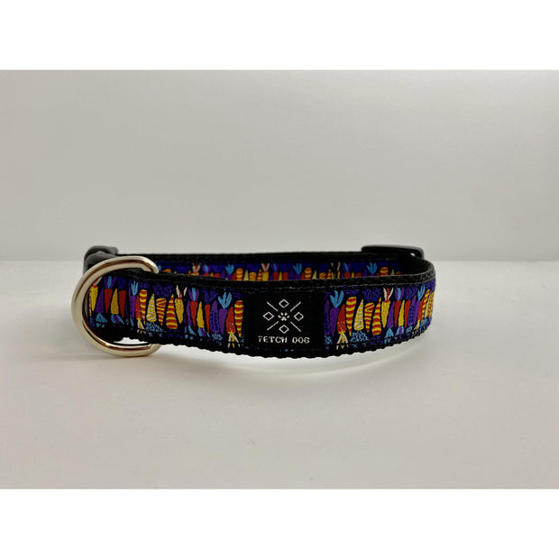 Colorful Carrots Dog Collar