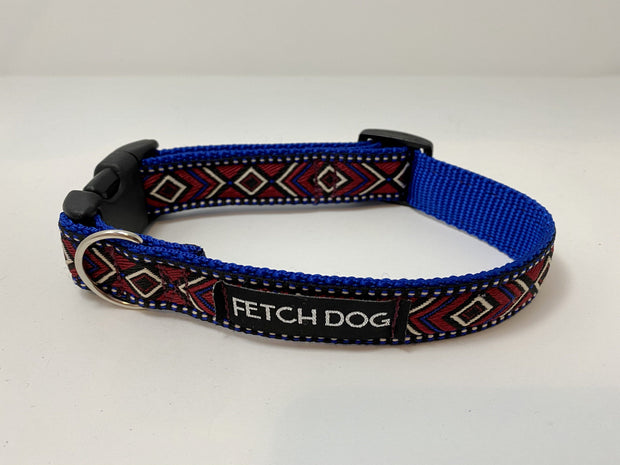 Diamond Geometric Dog Collar Dog Collar Fetch Dog