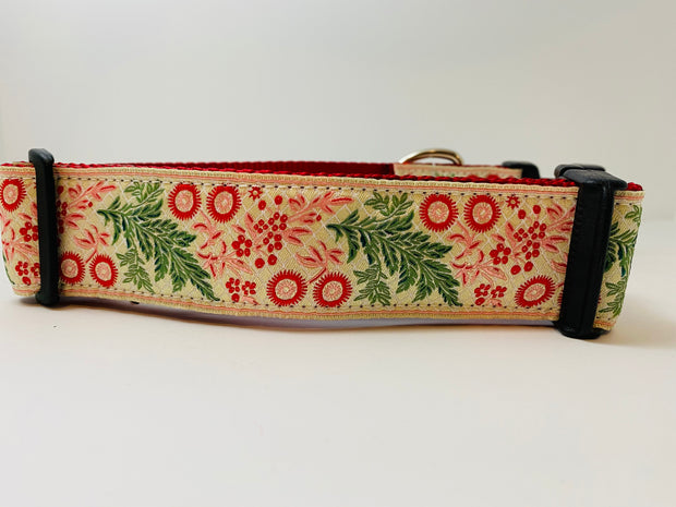 Holiday Garland Wide Dog Collar