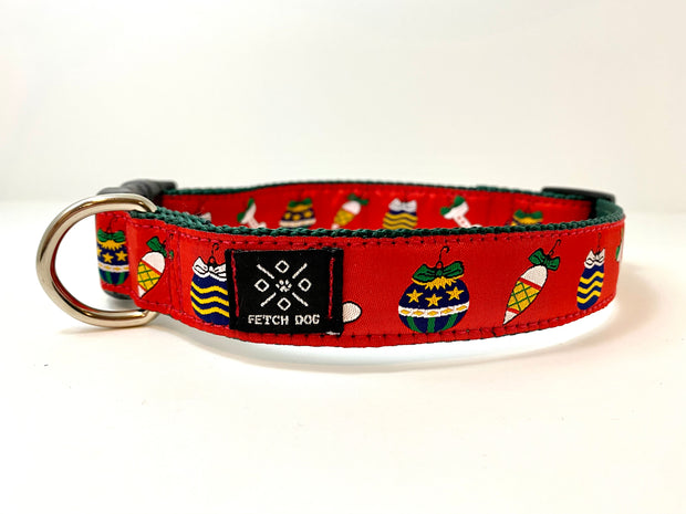Holiday Ornaments Dog Collar
