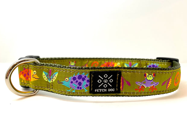 Jungle Creatures Dog Collar