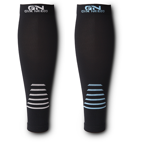 Calf Compression Sleeve for Men & Women - Black & Blue