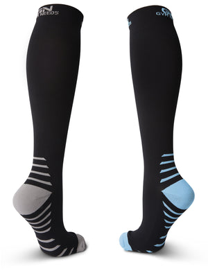 Compression Socks for Men & Women - Black & Blue