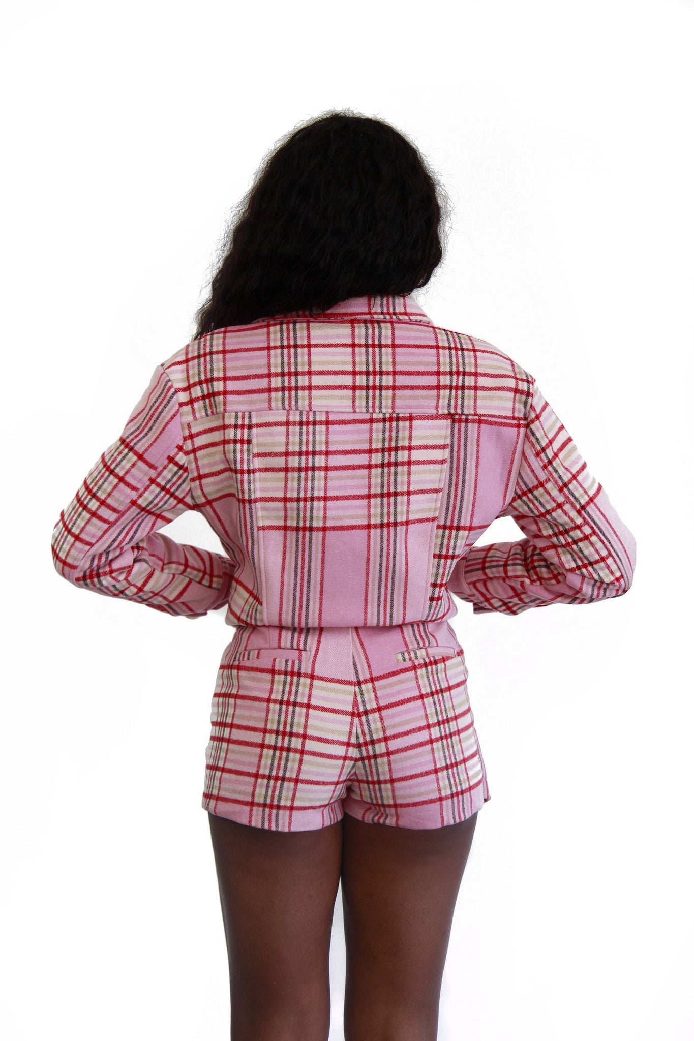 "CLUELESS PLAID JACKET ONLY ""PINK"""