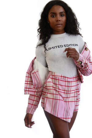 Clueless plaid pink set