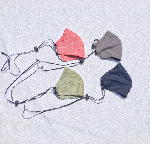 Adjustable Linen Face Mask