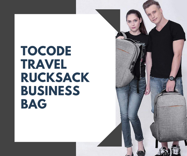 Tocode Rucksack Business Bag- For Those Who Want to Carry More!