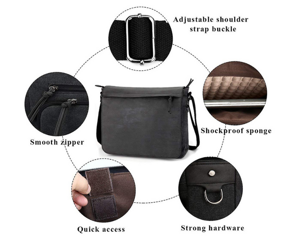 Look Great In Sweats or a Business Suit with a Tocode PU Leather Messenger Bag