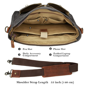Tocode Mr. Cello Leather Messenger Bag