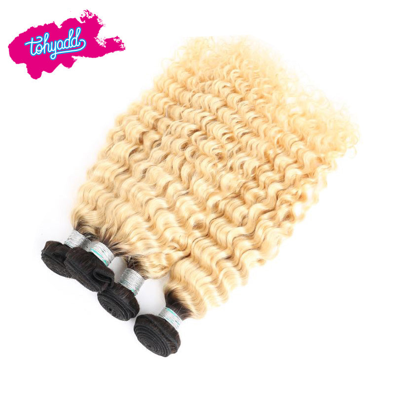 Tohyadd 4/3/2/1 Bundle Deals Blonde Curly Hair