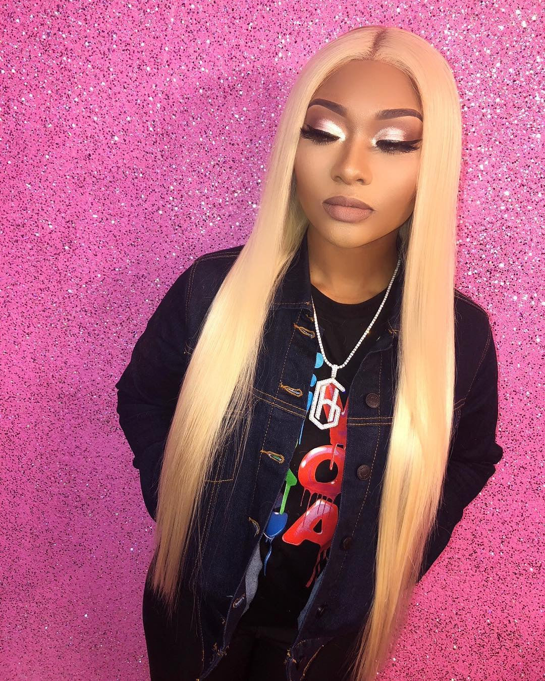 TOHYADD 1/2/3/4 Bundle Deals Blonde Straight Human Hair Extensions