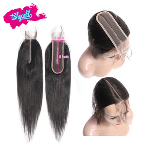 TOHYADD PrePlucked Transparent HD Lace Closure Frontal Straight Virgin Hair
