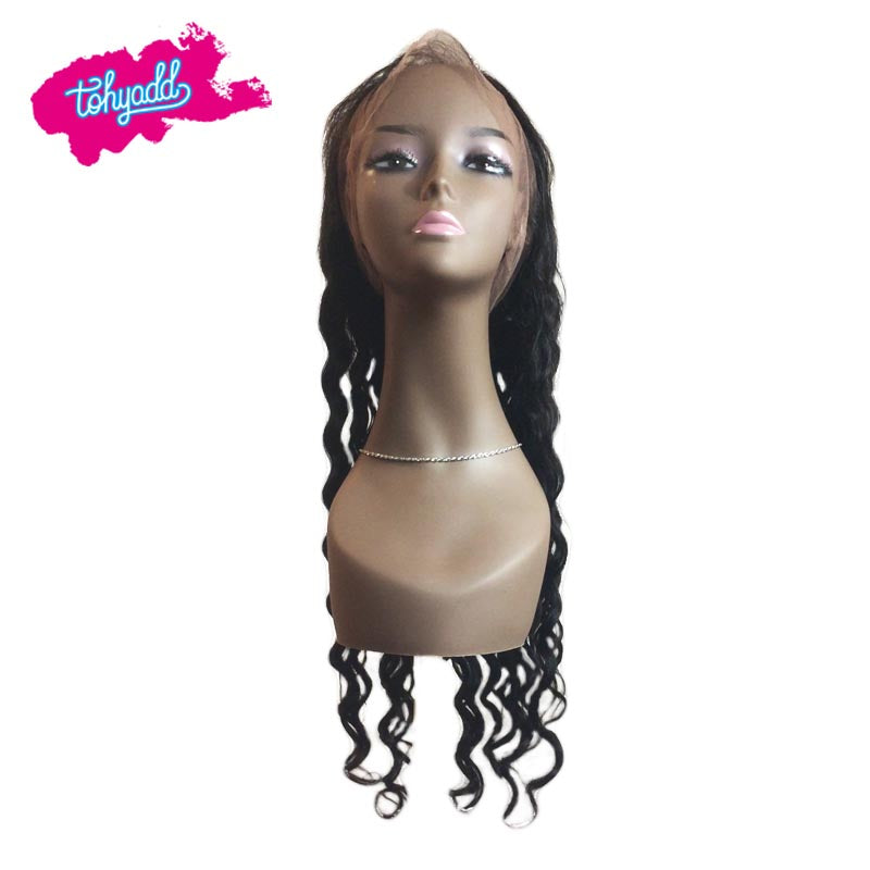 TOHYADD PrePlucked Raw Deep Wave Cuticle Aligned Hair Transparent HD Lace Wig